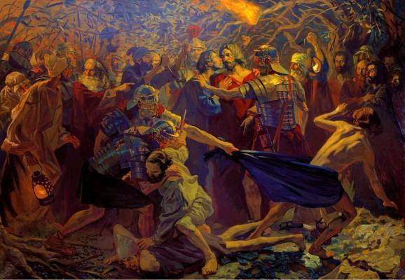 pavel popov, judas betrays christ with a kiss